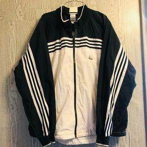 VTG 90s ADIDAS 3 Stripes Black & White Jacket